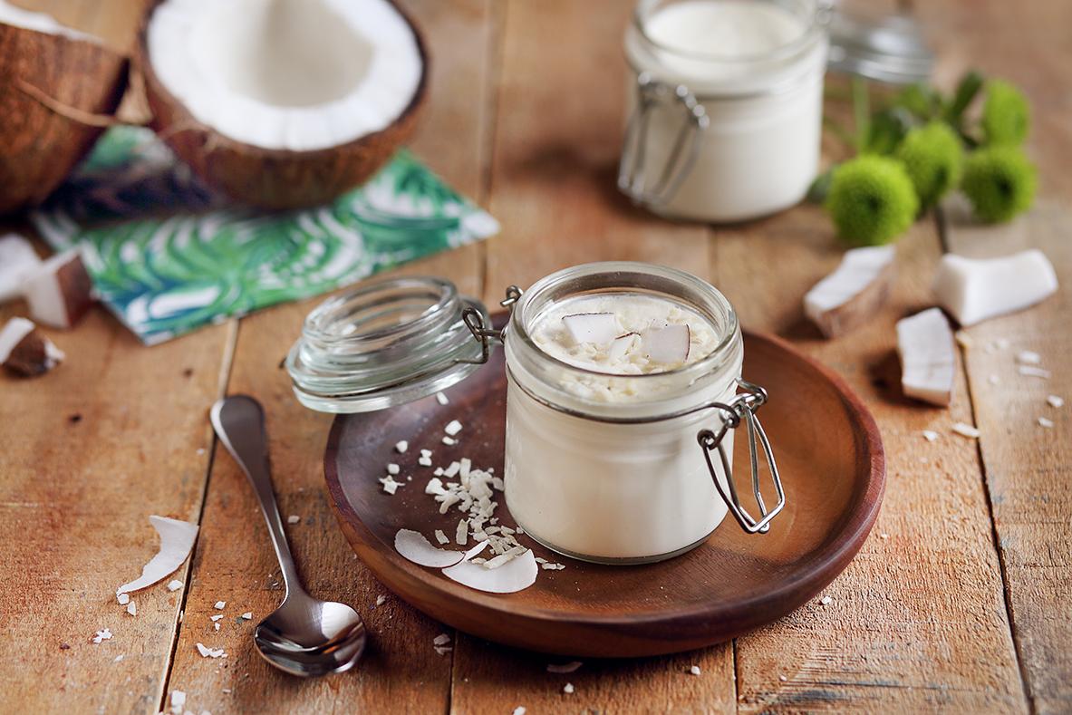 Yaourts au lait de chèvre saveur Coco