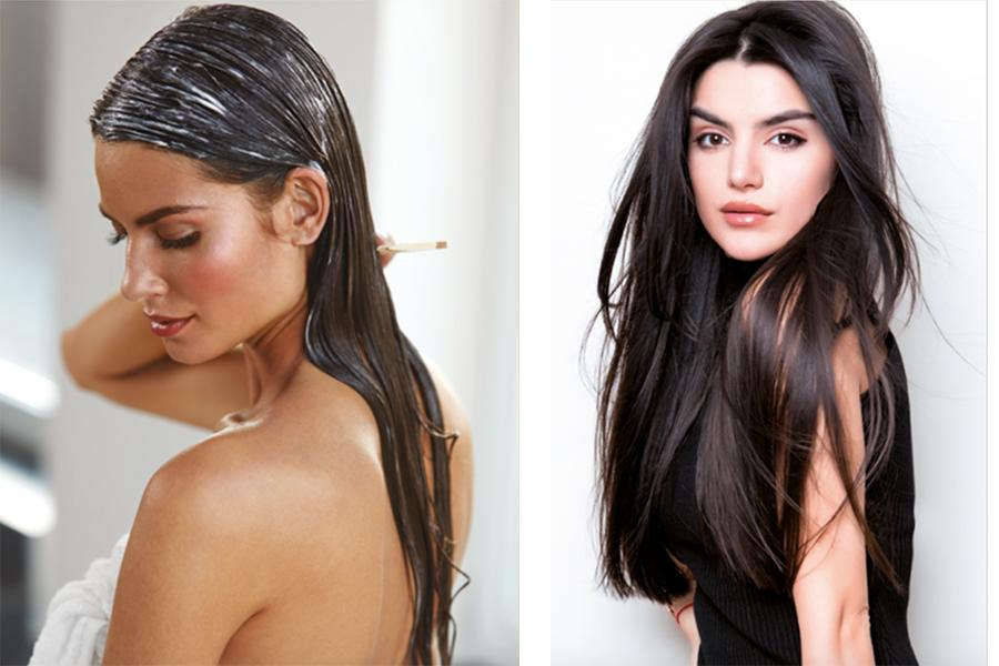 Beaux cheveux longs soignés avec Taaj... soins cosmétiques inspirée de l'Ayurveda