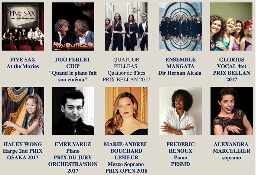 Jeunes talents 2018 pour Cap Ferret Music Festival