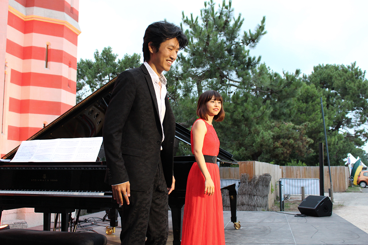 Zilan & Zhao en concert au Cap Ferret Music Festival en 2017