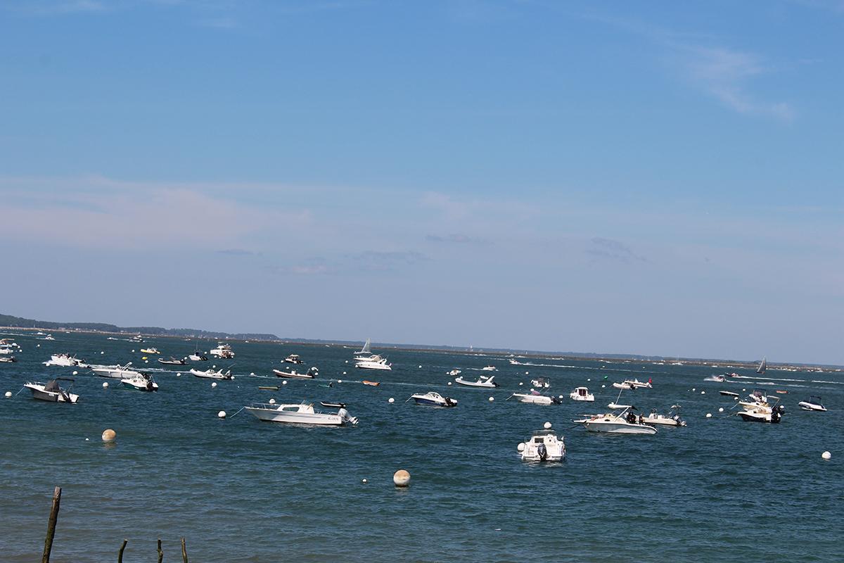 Mer et bateaux au Cap Ferret