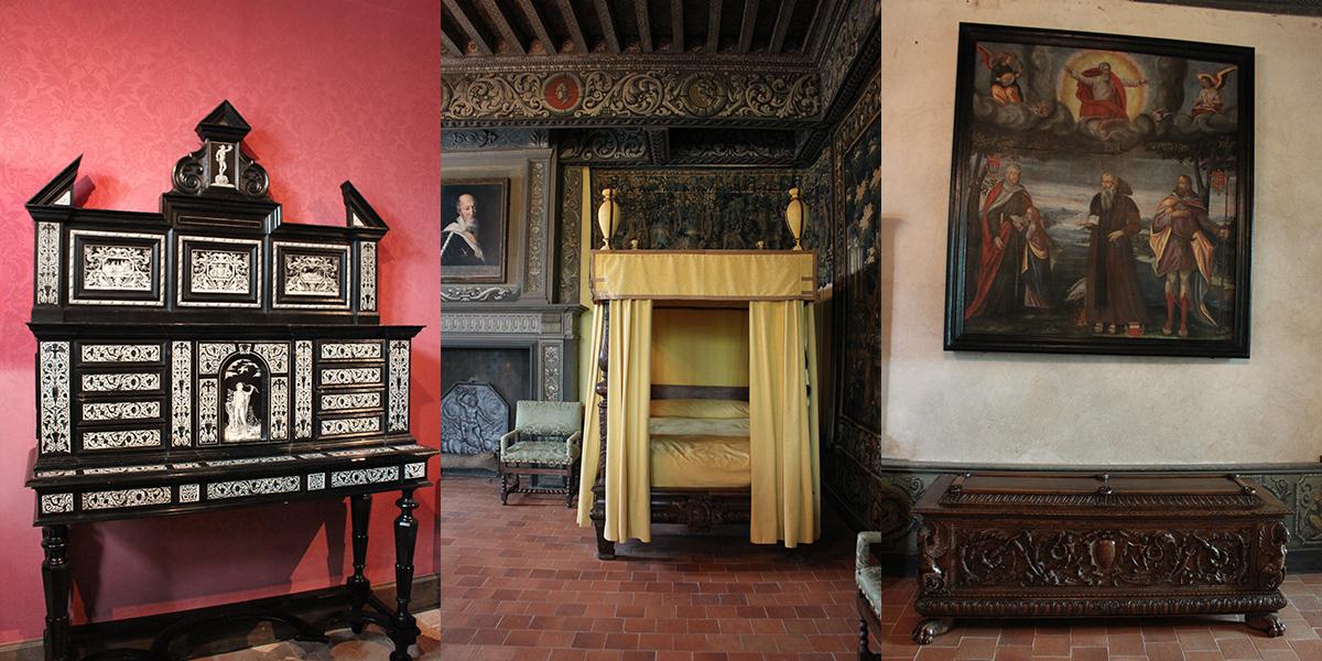 Une chambre du Château de la Bâtie
