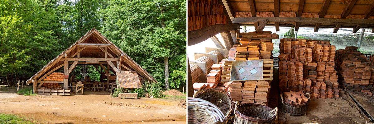 Dans le village des artisans, la maison des tuiliers. © Caroline Paux