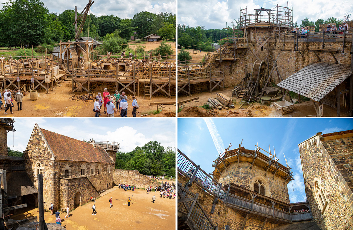 Les travaux du château de Guédelon ont démarré en 1997. L'enceinte fortifiée, le logis principal ont bien avancé… Mais il reste encore beaucoup à faire! ©Caroline Paux