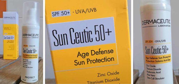 Adapté aux peaux sensibles, Sun Ceutic 50+ protège la peau exposée aux rayons UV et aide à prévenir les signes visibles du vieillissement cutané.
