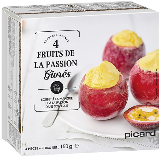 Fruits de la passion givrés