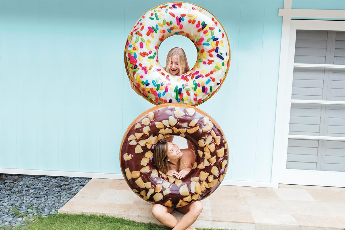 Bouée Donut Choco Noisette