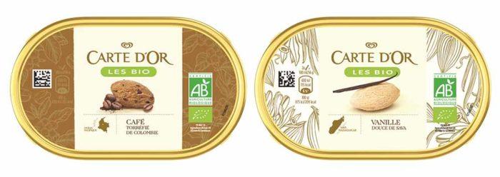 Carte d'Or lance cette année une gamme certifiée AB. Les Bio se déclinent en quatre saveurs incontournables : vanille, cacao, café et pistache.