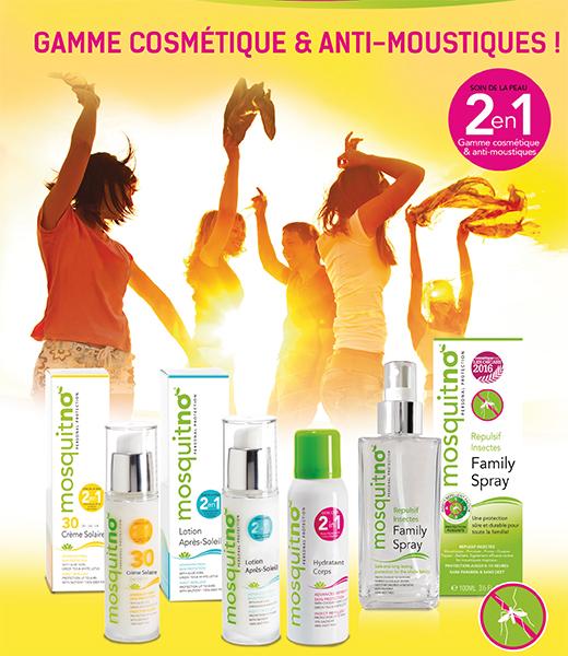 Gamme cosmétique & anti-moustiques mosquitno®