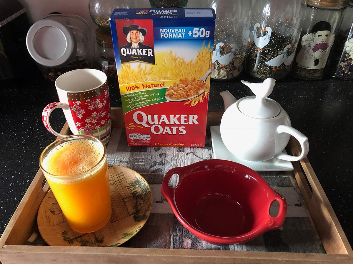 Les flocons d'avoinenaturels Quaker Oats