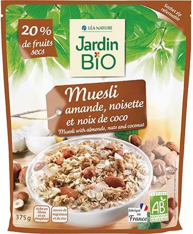 Muesli amandes, noisettes et noix de coco de Jardin Bio