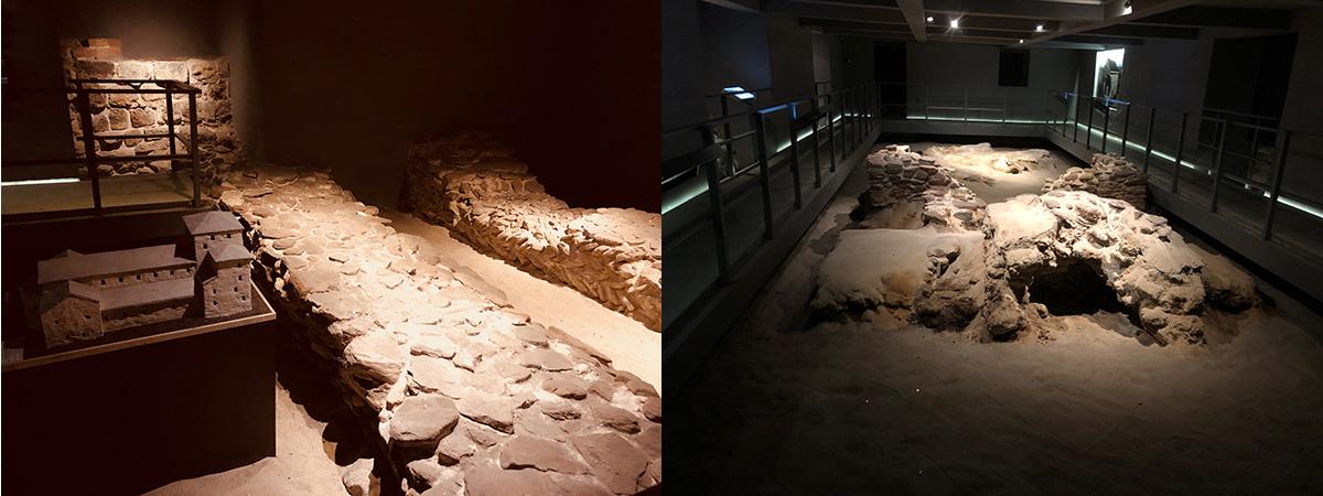 vestiges de constructions préromanes et romanes