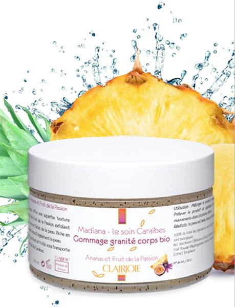 Le gommage bio granité ananas-passion