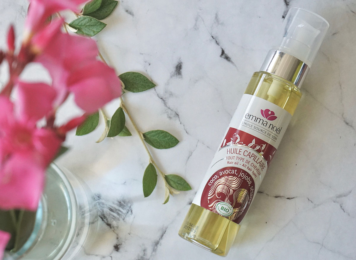 L'huile capillaire Emma Noël : 4 huiles biologiques en une
