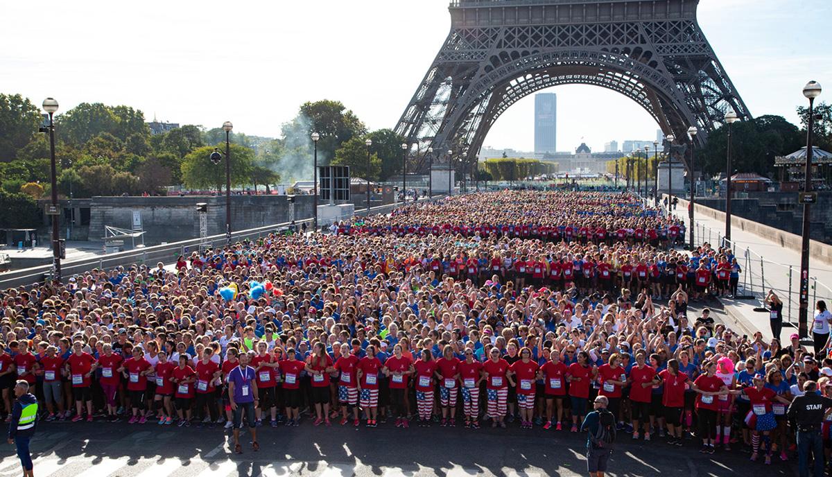 La Parisienne : départ sur le pont d'Iéna