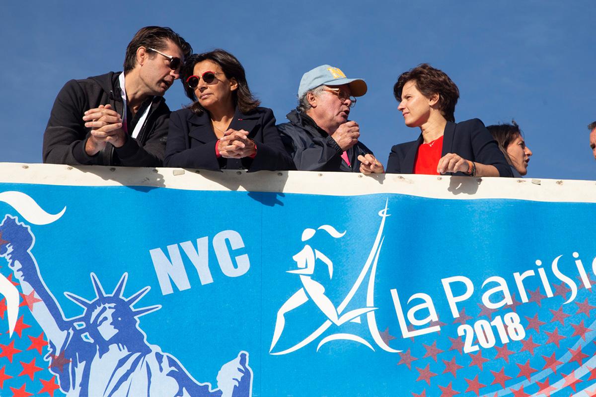 Roxana Maracineanu et Anne Hidalgo ont assisté au départ.