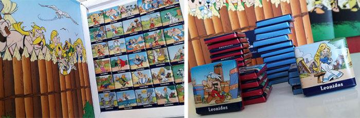A l'occasion de cette rentrée, des chocolats à l'effigie des personnages de la bande dessinée Astérix sont proposés chez Leonidas.
