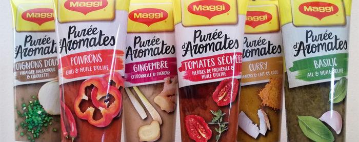Maggi lance Purée d'Aromates. Six tubes d'aromates et d'épices en purée sont à découvrir .