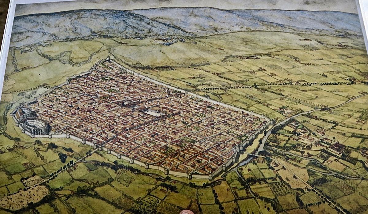 Plan reconstitué de la ville d'Autun au temps des Romains