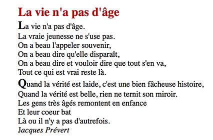 Poème de Jacques Prévert