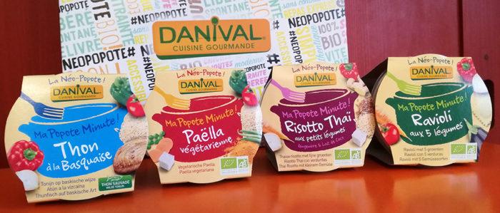 """Danival crée """"Ma popote-minute, quatre plats 100% bio, préparés comme à la maison, à emporter partout !"""