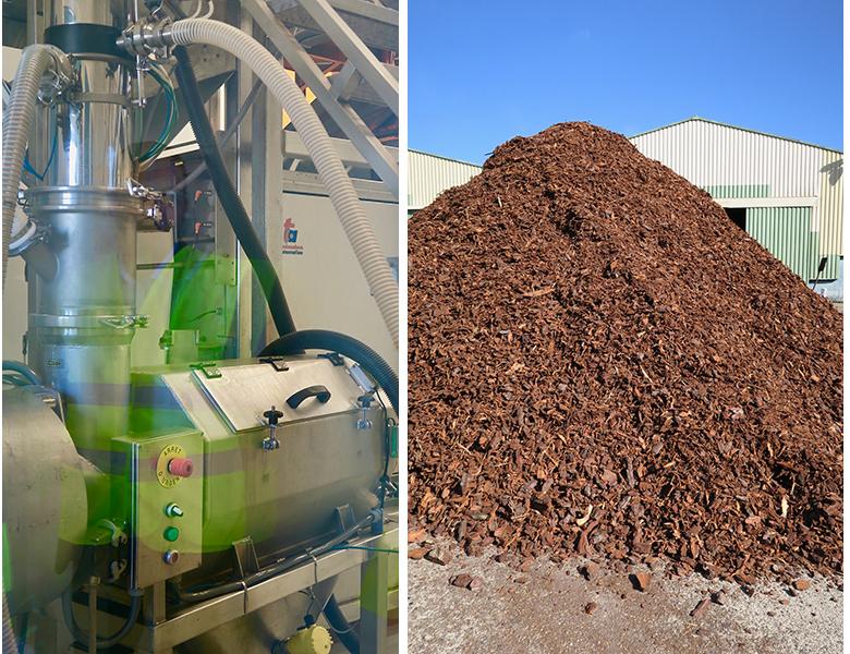 Usine landaise Biolandes , en charge de l'extraction et de la transformation de l'extrait d'écorce de pin