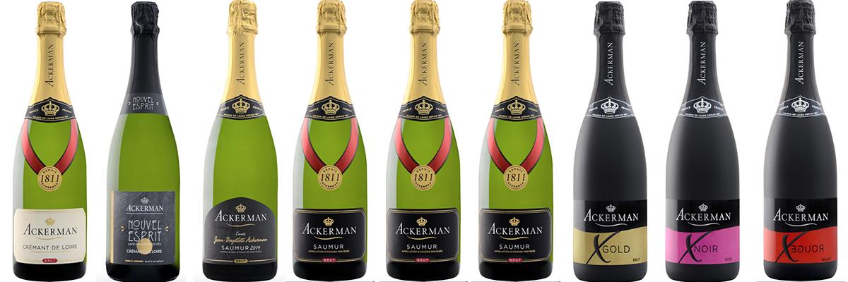 Bouteilles de vin Akerman