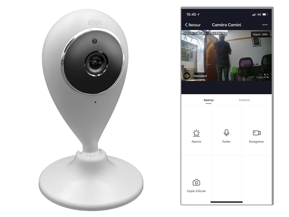 La caméra Wifi Camini vous permet de voir ce qui se passe chez vous à l'autre bout du monde.