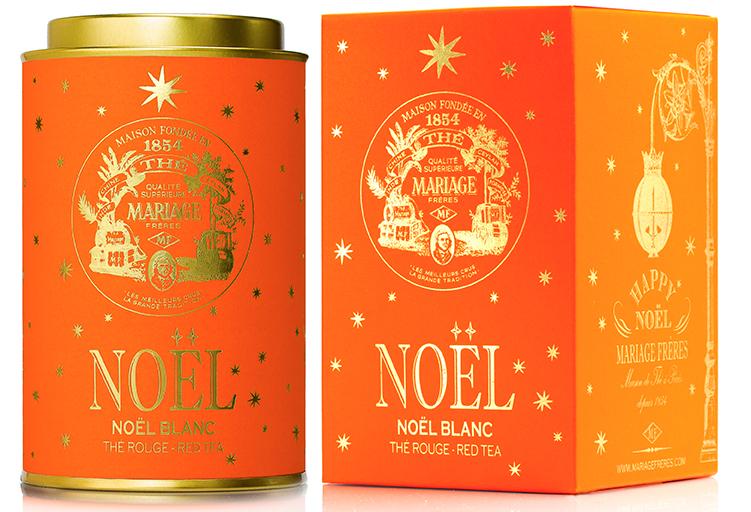 Noël Blanc : Roïbos rouge étoilé d'Or et d'Argent