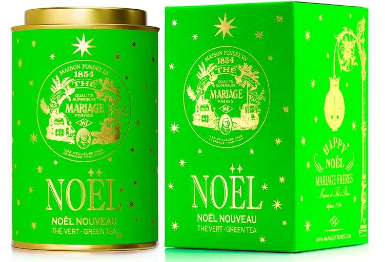 Noël Nouveau : Thé vert festif étoilé d'Or et d'Argent