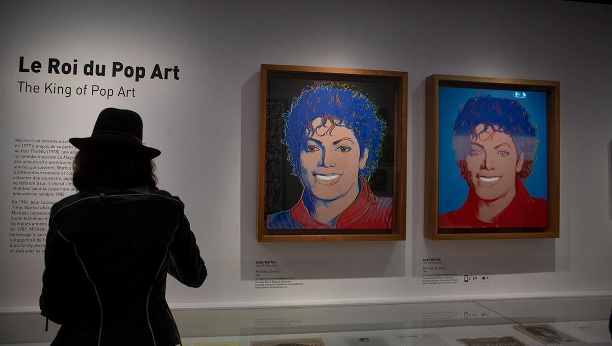 """""""Mickael Jackson"""" vu par Andy Warhol, en 1984."""