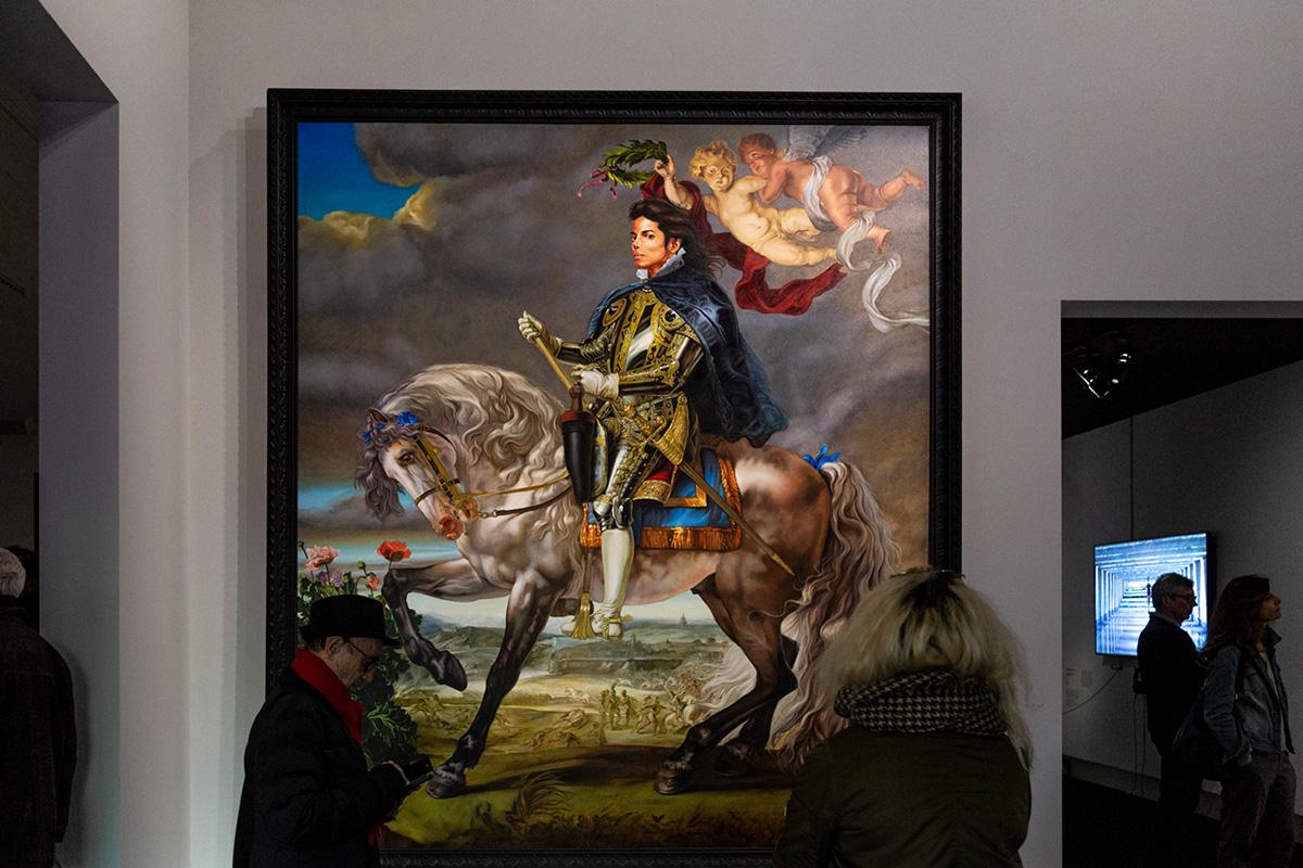 Equestrian Portrait of King Philip II (Mickael jackson), réalisé en 2010 par Kehinde Wiley.