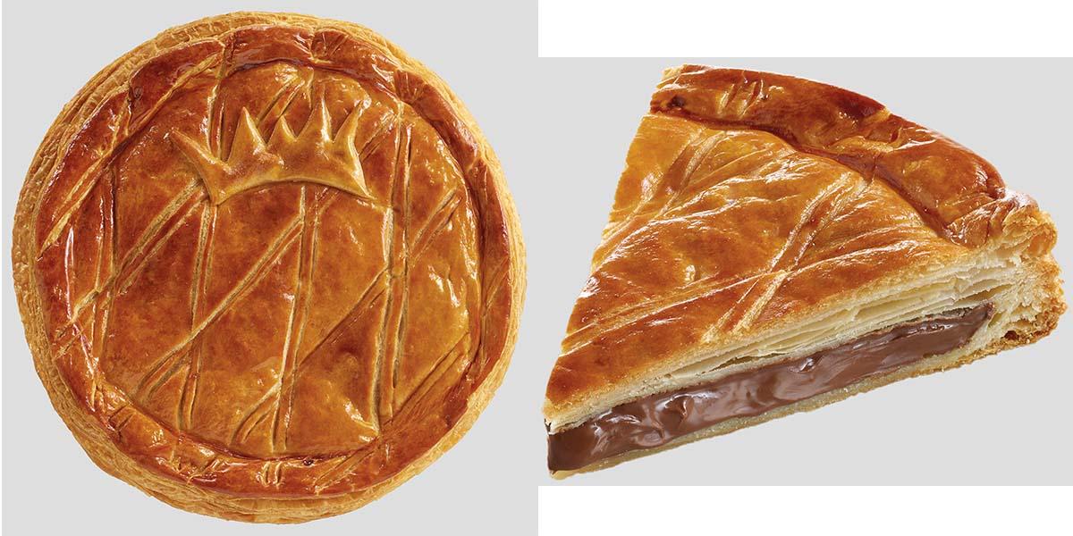 "Galette Nutella Brioche Doré avec une fève ""made in France""."