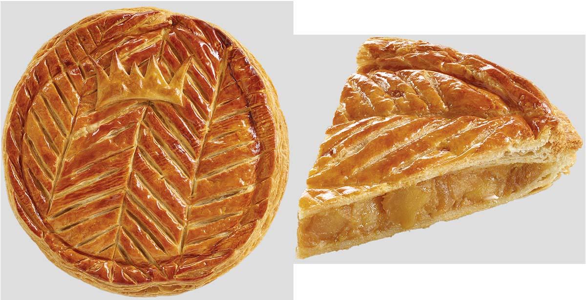 Galette aux Pommes Brioche Dorée avec une Fève made in France.