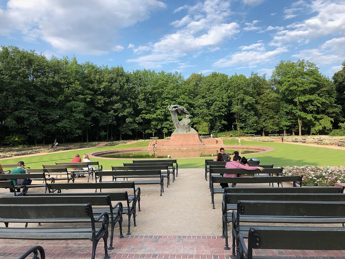 Les bancs du parc