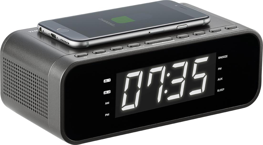 Le radio-réveil avec chargeur sans-fil Thomson CR225i