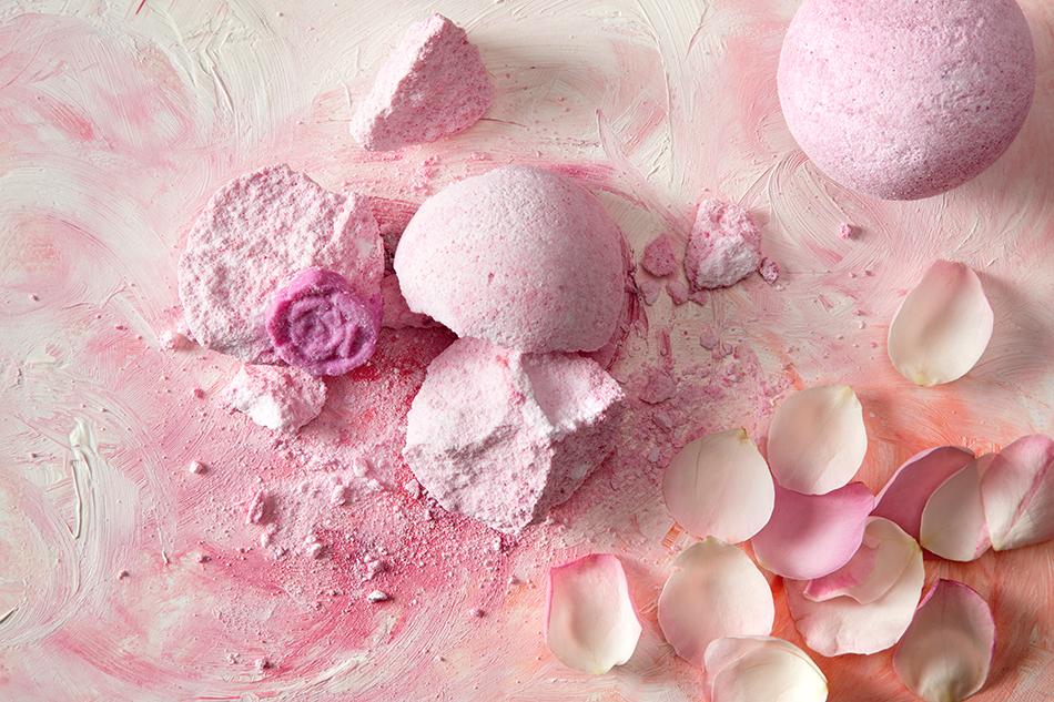 La boule de bain Rose Splash