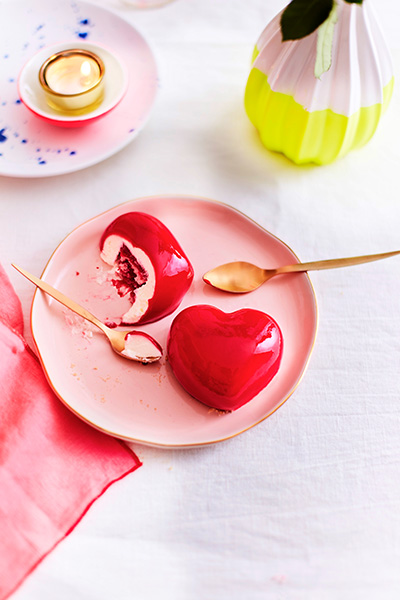 2 coeurs framboise-citron Only Love
