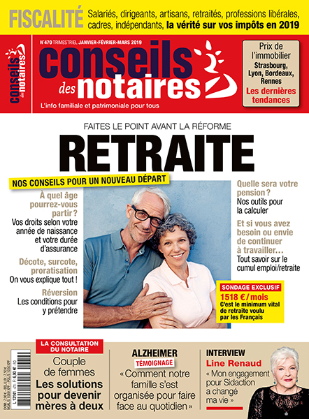 Couverture du magazine Conseils de Notaires