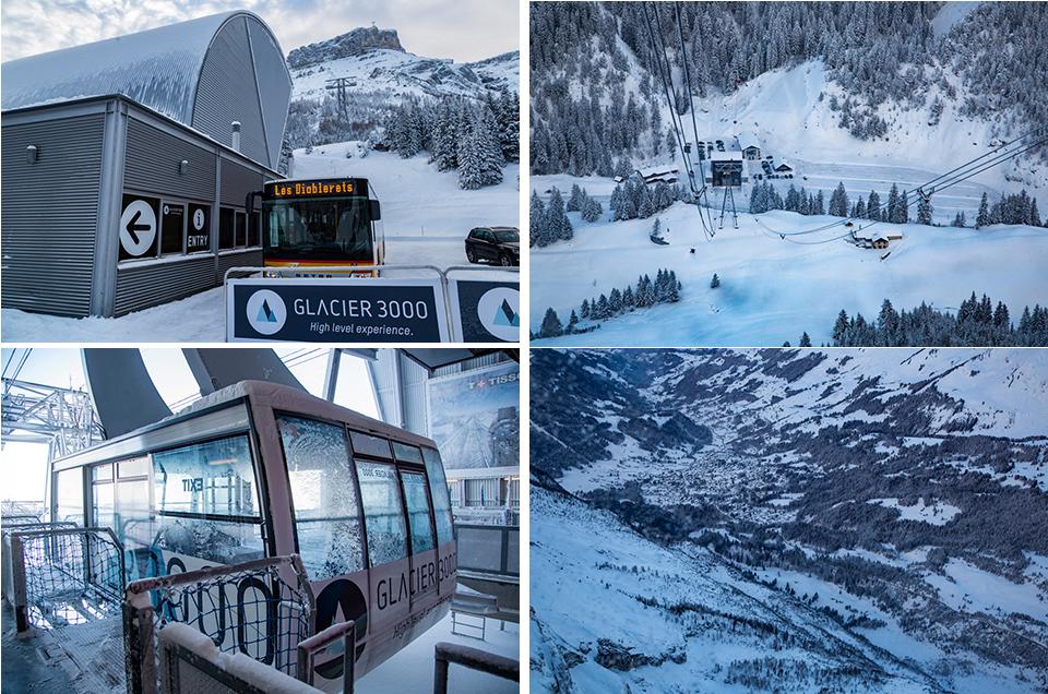 Glacier 3000 : montée en téléphérique