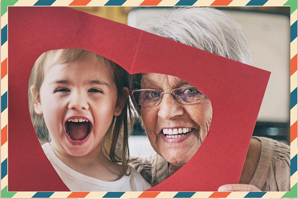 Grand-mère et filette