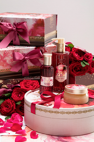 L'huile corporelle Rose Splash