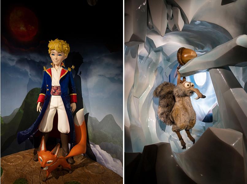 Le Petit Prince de St Exupéry et Scrat l'écureuil de l'Age de Glace.