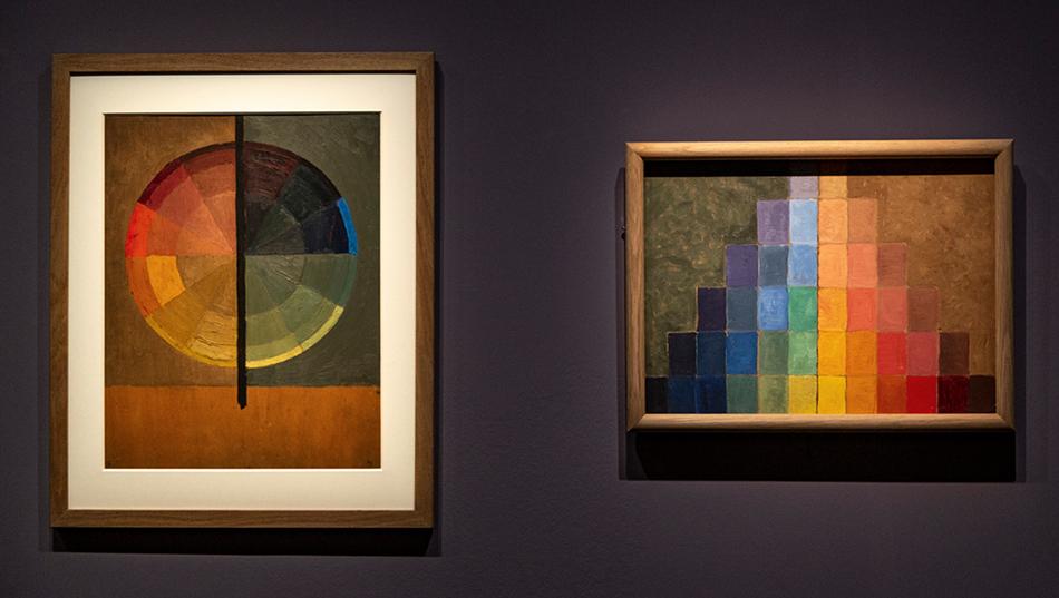 Paul Sérusier - Cercle chromatique. Huile sur bois Collection Musée de Pont-Aven