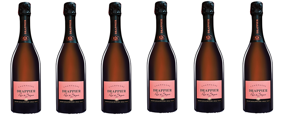 Champagne Drappier, Membre du Club Vignobles & Signatures : Rosé de saignée