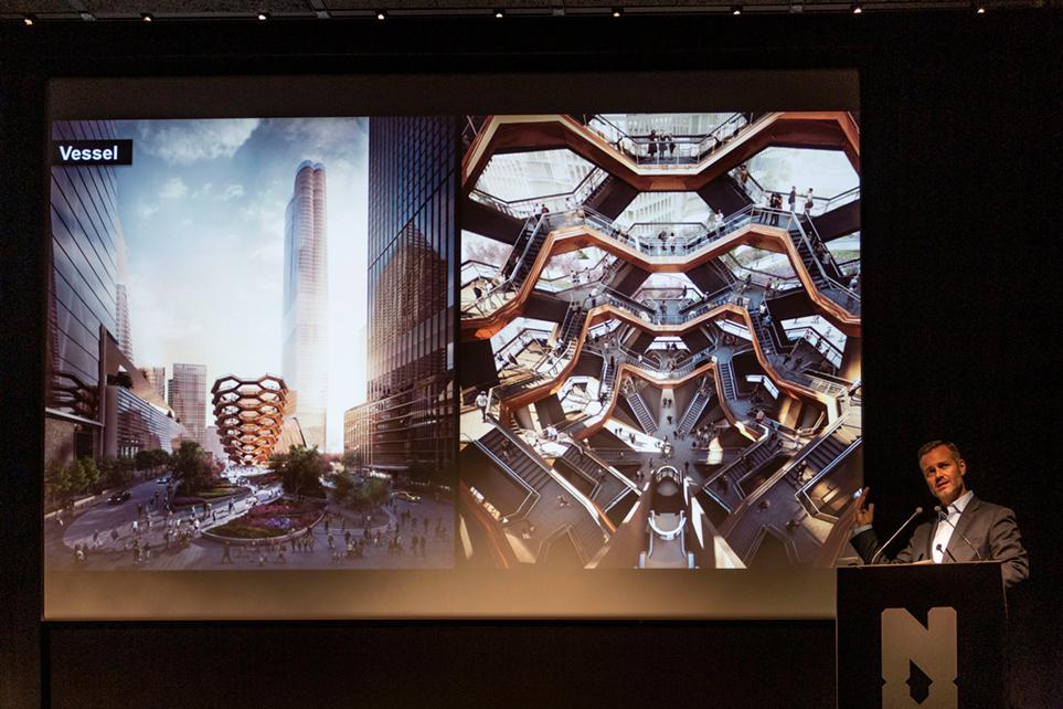 Fred Dixon, P-d-g de NYC & Compagnie présente l'extraordinaire œuvre de Thomas Heatherwick, The Vessel.