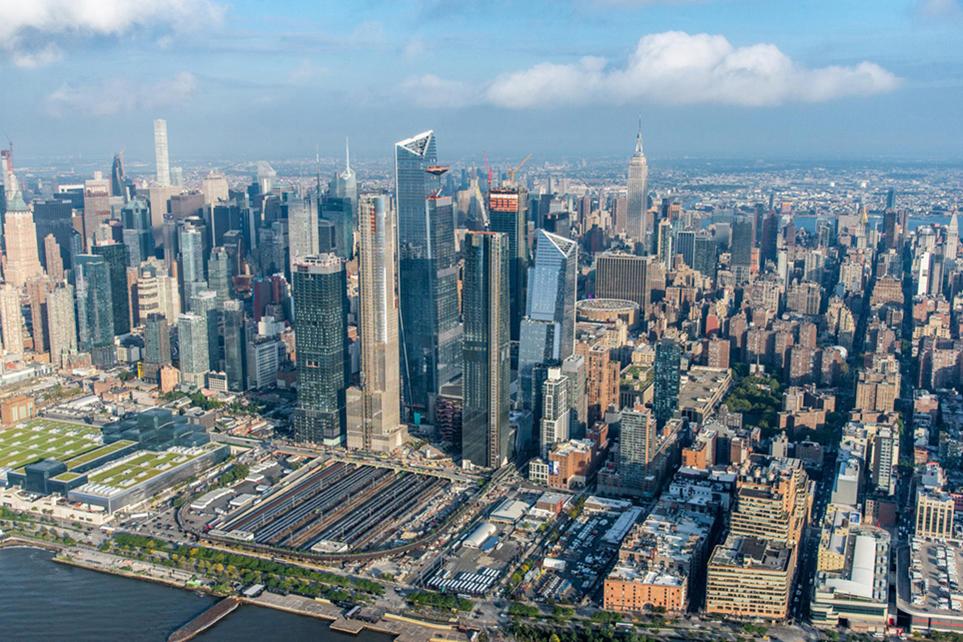 Le nouveau quartier d'Hudson Yards, le plus grand projet immobilier privé de l'histoire des Etats-Unis.