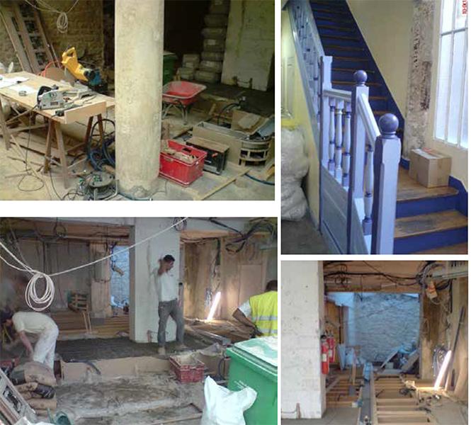 Travaux de rénovation de la Maison Dr Hauschka