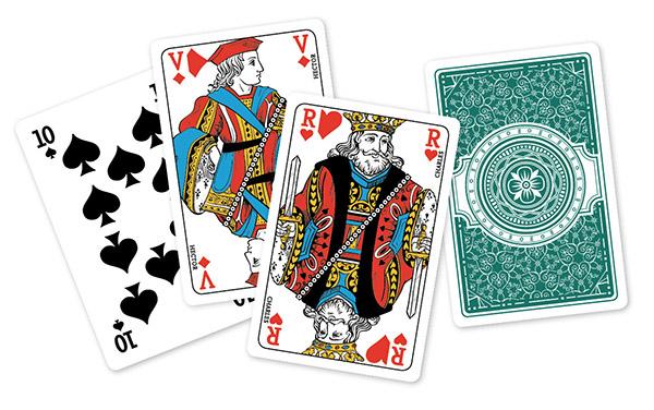 Les portraits des rois, reines et valets ont été retravaillés. ©Grimaud