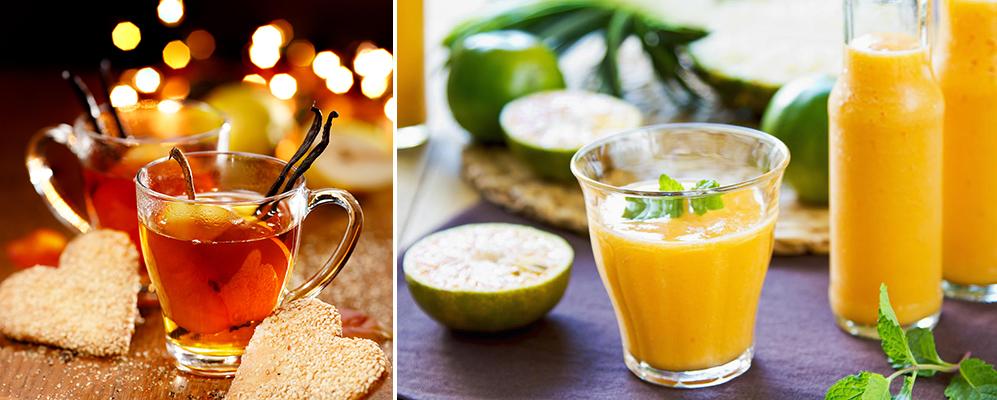 Grog au Sencha et thé à la menthe